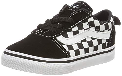 Vans Unisex Baby Ward Slip-on Canvas Sneaker, Schwarz ((Checkers) Black/True White PVC), 23.5 EU von Vans