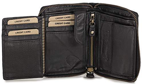 2c6a4c5be20ba Ven Tomy Geldbörsen - Kleine Geldbörse Brieftasche für Damen und Herren  Leder - Hochformat klein Vintage