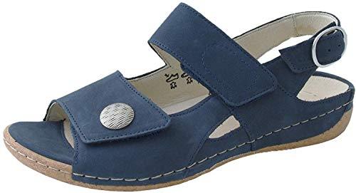 Von Für Sandalen Damen Blau Waldläufer In JulK351FTc