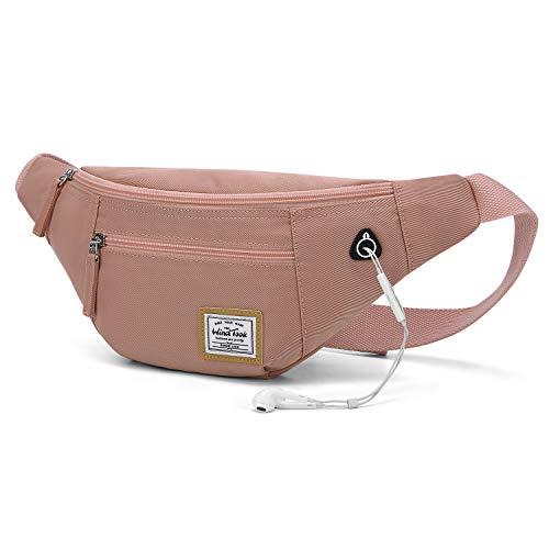 Bauchtasche Damen Herren Hüfttasche Körpertasche Zipper Damen Herren Schwarz