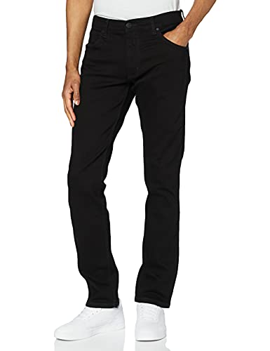 Wrangler Herren Greensboro Regular Jeans, Schwarz (Black Valley 19A),40W/30L von Wrangler