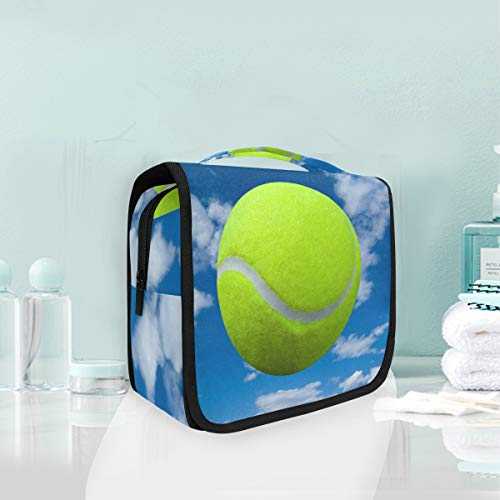 Make-up Kosmetiktasche Sport Tennisball Sky Cloud Portable Storage Reise Kulturbeutel von XiangHeFu