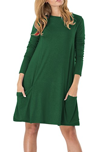 Kleider langarm grun