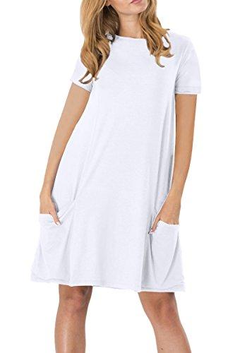 Kleid mit taschen weiss
