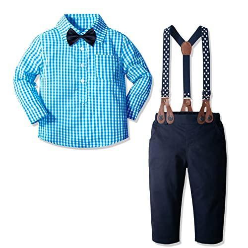 CHICTRY Baby Jungen Bekleidungssets Baumwolle Hemd /& Weste /& Hose Smoking Gentleman Anzug Festliche Party Hochzeit Tauf Kleidung