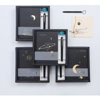 Planet Print Medium Notebook / Pen / Masking Tape / Set von Yogow