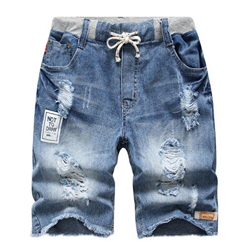 c233ecfb2a YoungSoul Jungen Shorts Bermuda Jeansshorts Kinder Sommer Cargo Kurze Hose  134-140 Stonewash Denim von