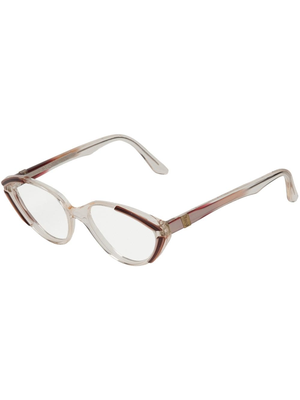 Yves Saint Laurent Pre-Owned Ovale Brille - Nude von Yves Saint Laurent Pre-Owned