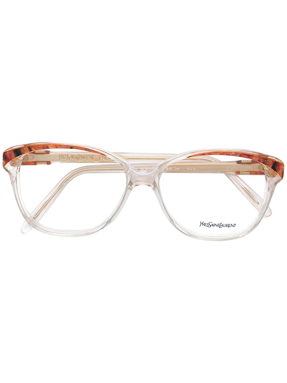 Yves Saint Laurent Pre-Owned Brille mit meliertem Gestell - Nude von Yves Saint Laurent Pre-Owned