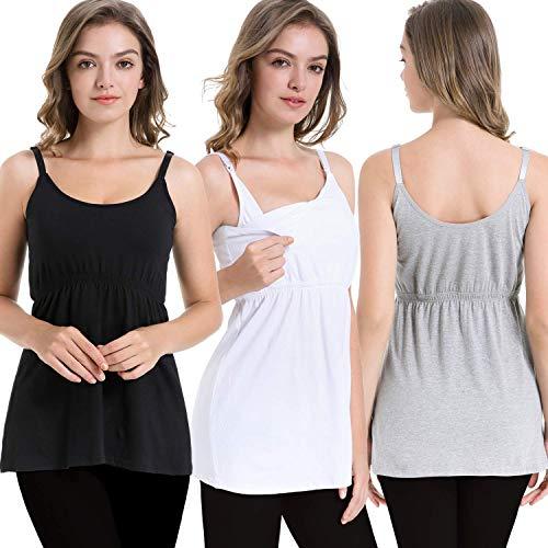iLoveSIA Stilltops Ohne B/ügel Still-Tanktops Still-Shirt Schwangerschafts-Tops
