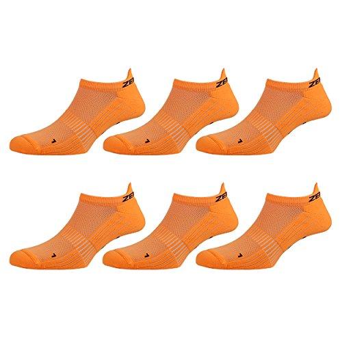 Zen Core weiße Sneaker Füßlinge Sportsocken für Herren anatomisch angepasst 3er, 6er, 12er Pack, Größe 40 43 und 44 47 für Fitness, Freizeit, Laufen