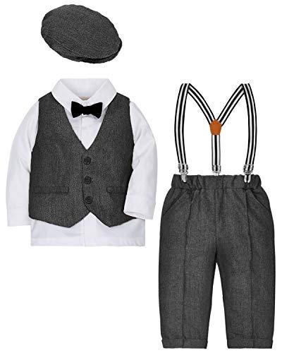 Hose Gentleman Anzug Hochzeit F/ür Fr/ühling Weste Jungen 3 St/ück Bekleidungssets Langarm Baumwolle Hemden