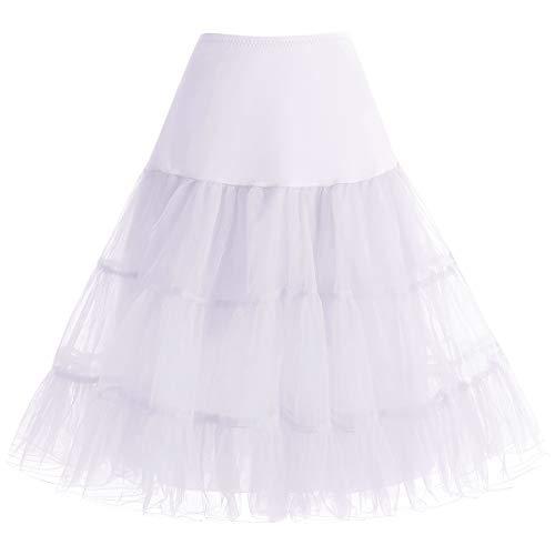 petticoat kleider von bbonlinedress in wei f r damen. Black Bedroom Furniture Sets. Home Design Ideas