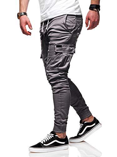BEHYPE Cargo Hose Jogge-Jeans für Herren Jogginghose Schwarz//Blau//Beige NEU