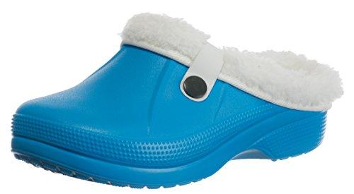 b132ef9c2a04b6 Brandsseller Kinder Clogs Pantoffel Schuhe Gartenschuhe Hausschuhe  gefüttert - Farben  Blau - Größe  29