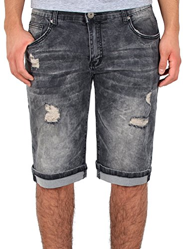 by-tex Herren Jeans Shorts Basic Jeans Shorts Kurze Bermuda Shorts Used Look Kurze Hose A415 von by-tex