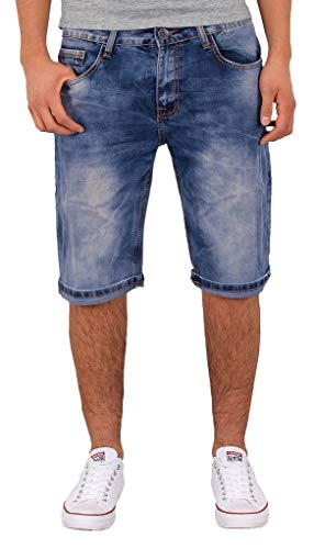 by-tex Herren Jeans Shorts kurze Bermuda Shorts Used Look kurze Hose Basic Jeans Shorts AS430 von by-tex