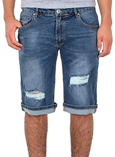 by-tex Herren Jeans Shorts kurze Bermuda Shorts Used Look kurze Hose Basic Jeans Shorts AS431 von by-tex