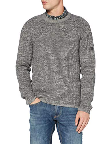 camel active Herren 4095074K0707 Pullover, Heather Grey, XXL von camel active