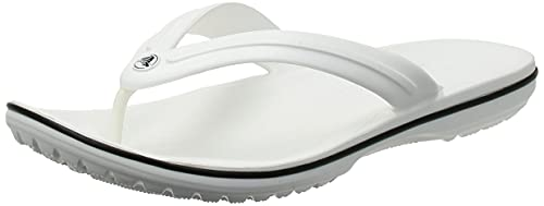 crocs Crocband Flip, Unisex - Erwachsene Zehentrenner, Rot (Pepper-White), 45/46 EU