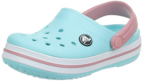 crocs Crocband Clog Kids, Unisex-Kinder Clogs, Blau (Ice Blue/White), 23-24 EU (C7 UK) von crocs