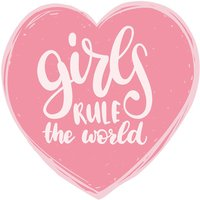 Wandtattoo Kinderzimmer Spruch Girls Rule The World, Wandsticker Spruch, Englisch von dekodinoDE