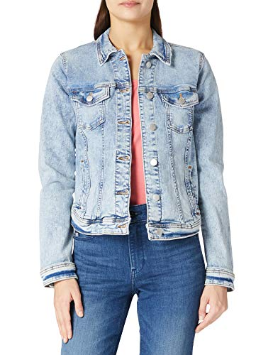 edc by ESPRIT Damen Denim Jeans Jacke, 903/BLUE Light WASH, L von edc by ESPRIT