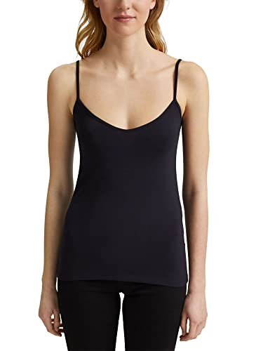 edc by ESPRIT Damen Spaghetti Top T-Shirt, 001/BLACK, XXL von edc by ESPRIT