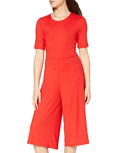 Amazon-Marke: find. Damen Jumpsuit Rib Cropped Jumpsuit_18AMA040, Rot (ROJO), 36, Label: S von find.
