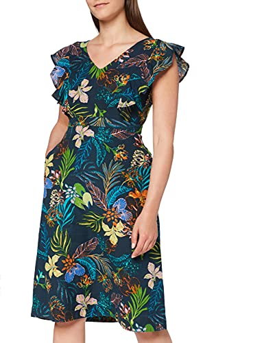 find. MDR 40984 Dresses, Multicolour (Tropical Print), 10 (Size:S) von find.
