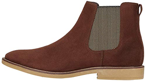 find. Marsh Chelsea Boots, Braun (Rich Brown Suede Look), 42 EU von find.