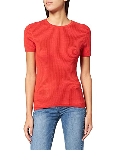 Amazon-Marke: find. Phrm3569 umstandspullover, Orange (Red), 36, Label: S von find.