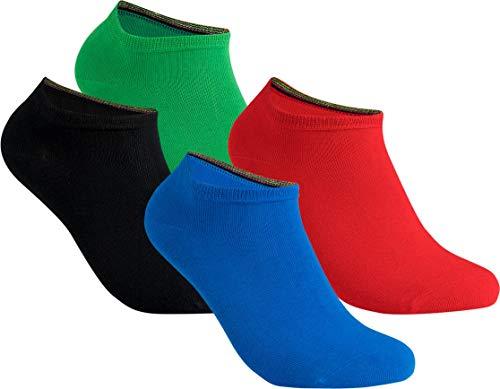 the latest b59de 44af6 gigando   colorful Baumwoll-Sneaker-Socken   kräftige Farben für Damen und  Herren