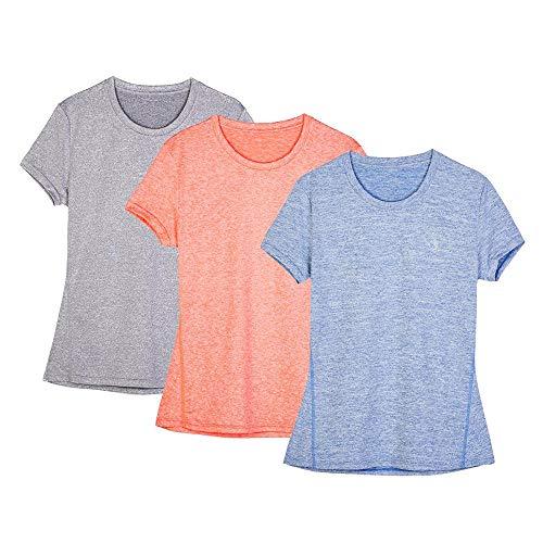 icyzone Damen Sport Langarm T-Shirts Training Fitness Kleidung 1//4 Rei/ßverschluss Laufshirt mit Daumenloch