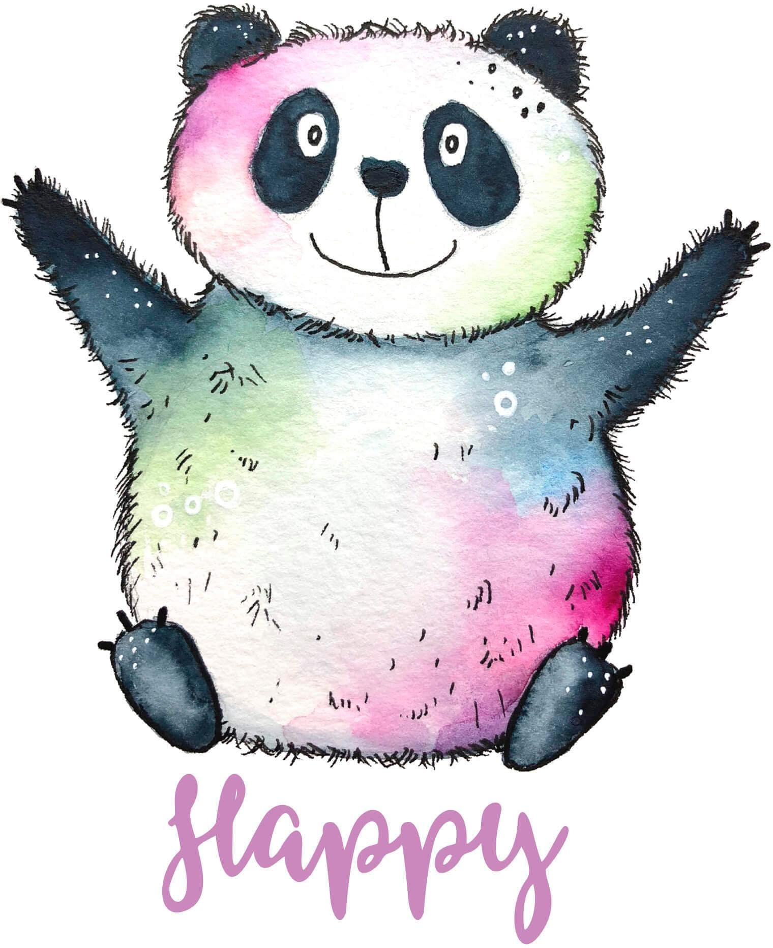 Wandtattoo Happy Panda
