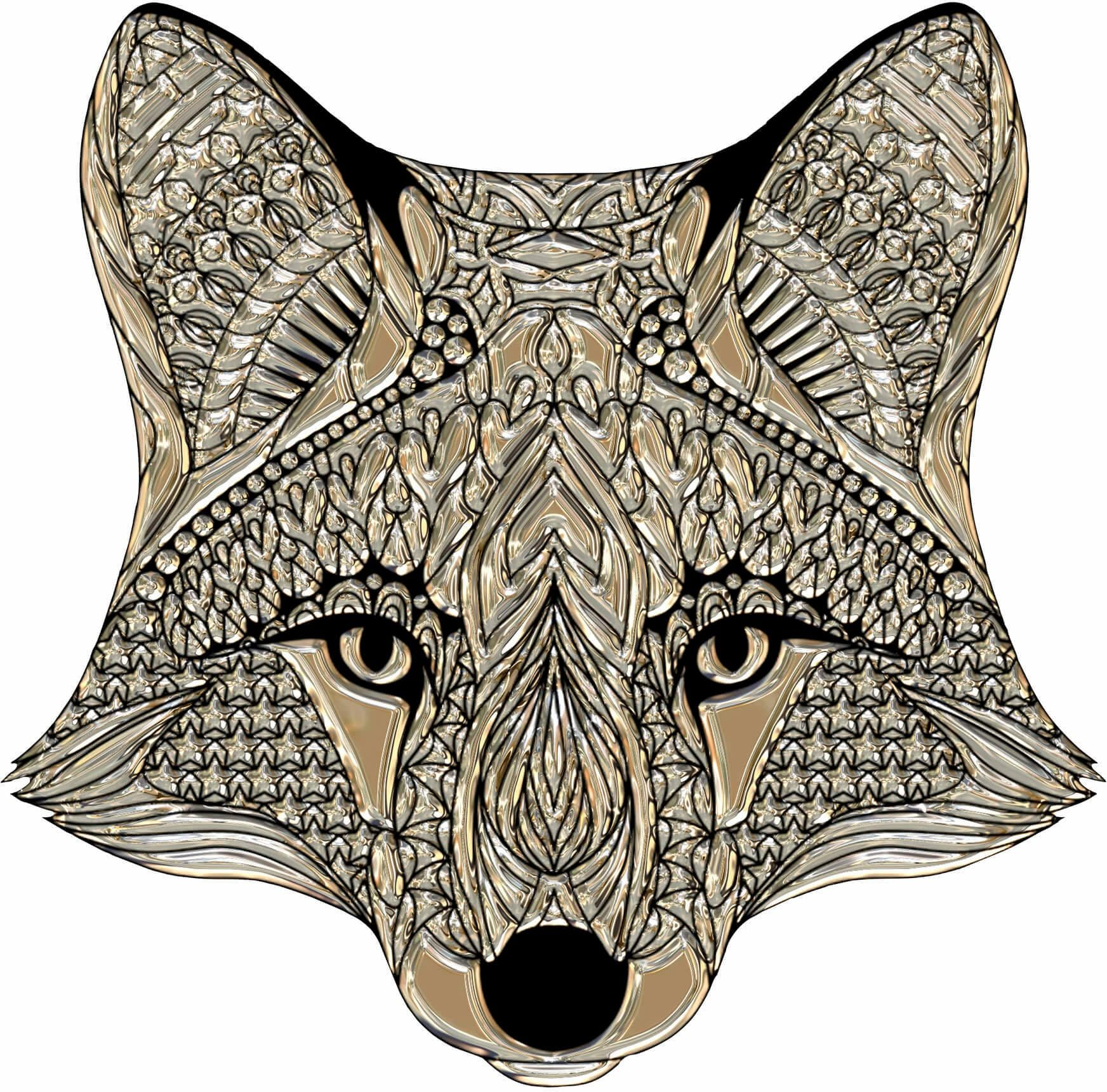 Wandtattoo Metallic Fox