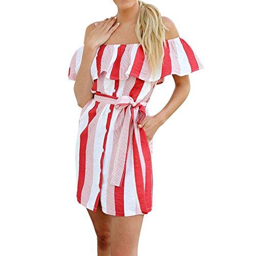 46047b95e5dd7 Kleid Damen Kolylong® Frauen elegant aus Schulter Blumen gedruckt Kleid  Minikleid Party Kleid Strandkleid Abendkleid
