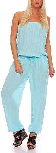 5a5b2d109052 Malito Damen Einteiler in Uni Farben   Overall mit Stoffgürtel   Jumpsuit -  Hosenanzug - Romper