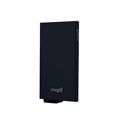 a9541b3022fa0 Premium Herren Portmonee RFID Schutz Kartenetui Business Geldbörse feinstes  A++ Echtleder mogdi Nano Mini Duo Wallet