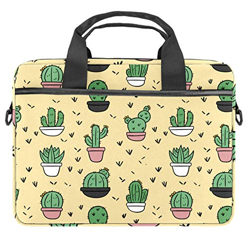 Cartoon-Kaktus-Topf 13,3 - 14,5 Zoll Laptop-Hülle Canvas Aktentasche Sleeve Laptop Schultertasche Messenger Bag Sleeve Laptop Aktentasche von nakw88