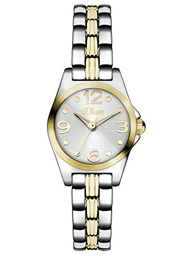 s.Oliver Damen-Armbanduhr Color Clash Analog Quarz Alloy SO-3075-MQ von s.Oliver