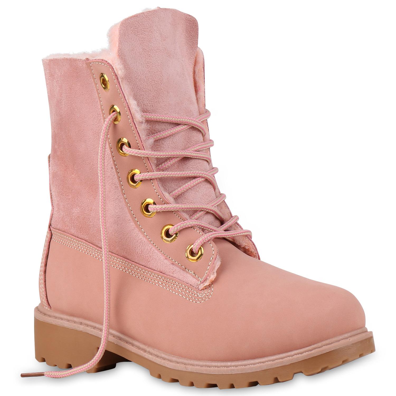 6f5f38860f74 Damen Stiefeletten Worker Boots - Rosa von stiefelpardies.de