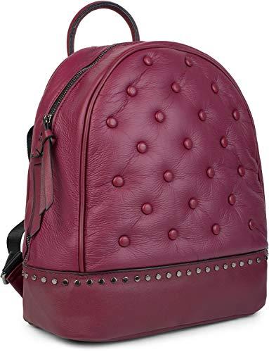 71854138f0ca2 styleBREAKER Damen Rucksack Handtasche mit Nieten im Chesterfield-Stil