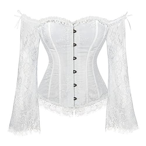Honey Korsett Weiß Spitze Und Kleine Knoten Intimates & Sleep Women's Clothing